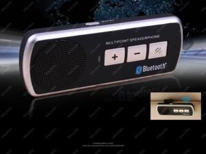 One pcs Wireless Bluetooth Handsfree Speakerphone Car Kit With Car Charger Bluetooth Car Kit FREESHIPPING~GGG