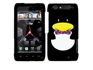 Motorola Droid Razr Maxx XT913 XT916 Hard Cover Case - Ben the Penguin 2D Silver Texture