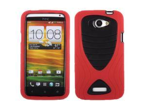 HTC One X One X+ Protective Case - Hybrid Teal Red/Black