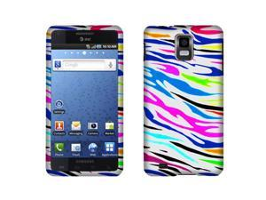 Samsung Infuse 4G I997 Hard Case Cover - Colorful Zebra Texture