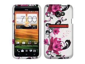 HTC EVO One 4G LTE Hard Case Cover - Red Lily Flower