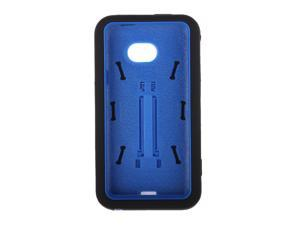 Armor Hybrid Black/Blue With Vertical Stand Protective Hard Skin Case Cover for HTC EVO One 4G LTE