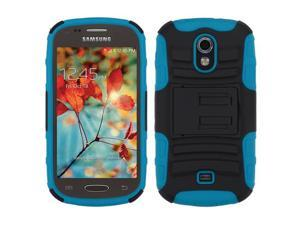 For T399 Galaxy Light Black/Tropical Teal Advanced Armor Stand Protector Cover