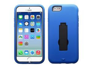 For iPhone 6s/6 Black/Blue Symbiosis Cover +Kick Stand Protector Case