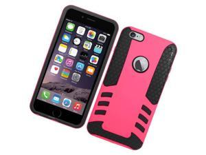 Apple iPhone 6 plus 5.5 inch Hard Cover and Silicone Protective Case - Hybrid Pink/ Black Fusion