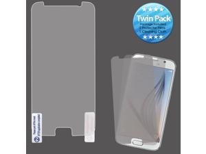 2x LCD Screen Cover Protector Film w/ Cloth Wipe for Samsung Galaxy S6