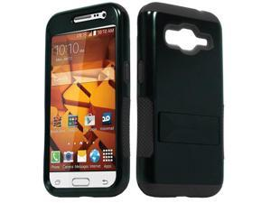 Samsung Galaxy Core Prime G360 Hard Cover and Silicone Protective Case - Hybrid Black Infuse Prime w/ Stand