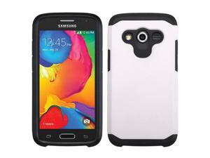 Samsung Galaxy Avant G386T Hard Cover and Silicone Protective Case - Hybrid White/ Black Astronoot + Stylus Pen