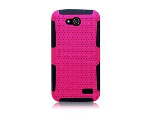 ZTE Speed N9130 Hard Cover and Silicone Protective Case - Hybrid Mesh Hot Pink/Black