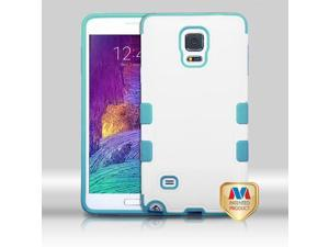 Samsung Galaxy Note 4 Hard Cover and Silicone Protective Case - Hybrid Cream White/Tropical Teal TUFF Merge