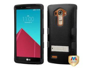 For G4 Natural Black/Black TUFF Hybrid Phone Protector Cover (with Stand)