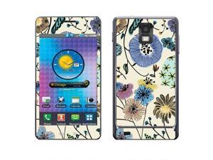 Samsung Infuse 4G I997 Vinyl Decal Sticker - Garden Flowers
