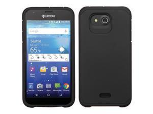 Kyocera Hydro Wave C6740 Hard Cover and Silicone Protective Case - Hybrid Black/ Black Astronoot