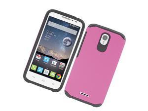 Alcatel OneTouch POP Astro 5042N 5042T Hard Cover and Silicone Protective Case - Hybrid Hot Pink/ Black Astronoot