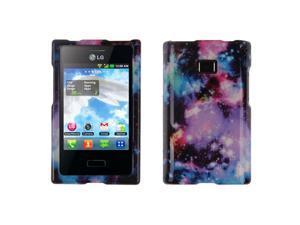 LG Optimus Logic L35g Dynamic L38c Hard Case Cover - Purple Marvel Nebula Galaxy