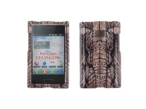 LG Optimus Logic L35g Dynamic L38c Hard Case Cover - Elephant Head Aztec Wooden