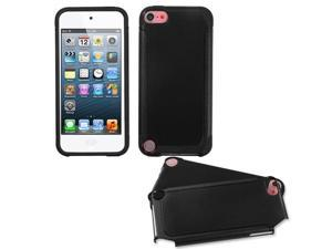 For iPod touch 6th GEN, 5th GEN Black/Black Frosted Fusion Protector Cover