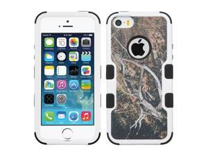 Apple iPhone 5 iPhone 5S iPhone SE Hard Cover and Silicone Protective Case - Hybrid Yellow Black Vine/ Black Tuff