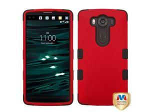 LG V10 H900 VS990 H901 H968 H961N Hard Cover and Silicone Protective Case - Hybrid Titanium Red/Black Tuff