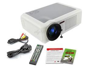 Remote Control (Ypbpr)VGA HDMI AV 2*USB Stereo 5W*2 Speaker HD Home Projector Cinema,100W LED 20,000 Hours Lamp Life 800:1 Contrast 60-100 Inch Image