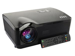 US Shipping 3D 2000:1 1080P 3*HDMI Native 1280*768 3000 lumens USB LED Multimedia HD Projector for Home Theater-Black