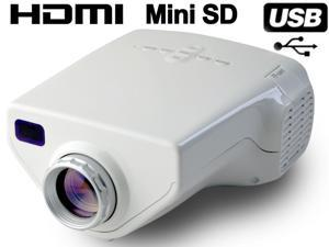 Bravolink E03 MINI Home Theater LED LCD Projector USB VGA HDMI 1080P - White