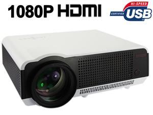Ship from USA HD 1080P 720P 2800 lumens LED LCD Projector Home Theatre Ypbpr AV VGA HDMI USB S-Video PS3 Wii (LED-86) - White