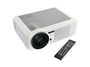 White HD 2000 lumens 20,000 Hours Lamp Life Home Theater LCD Projector 2*USB+Ypbpr+VGA,+HDMI+AV Multimedia Ports for Family Entertainment Movies