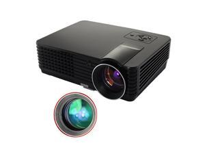 New Multifunction Hd Home Theater Projector 1024*600 Native Resolution,2000 lumens Support 1080P, with 2 HDMI,2 USB,AV,VGA inputs for Small-room Meeting, Movie Party, Football Night, TV, Game Consoles