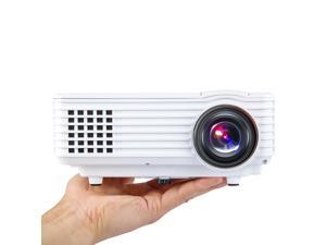 Portable Multimedia Mini LED Projector with USB VGA HDMI AV for Party,Home Entertainment,20000 Hours Led life with Remote