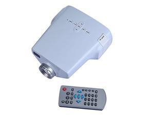 Portable Mini LED Projector with USB SD VGA HDMI AV Multimedia for Party,Home Entertainment,20000 Hours Led life with Remote Control (640*480)