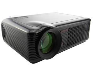 Black HD 1080P 2000 lumens LCD Projector Home Theater VGA HDMI SD USB