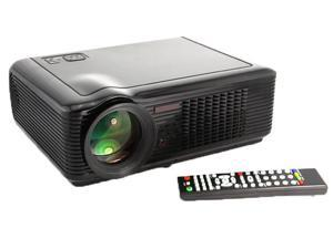 Black HD 2000 lumens 20000 Hours Home Theater LCD Projector