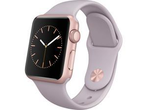 Apple Watch 38mm Aluminum Case Sport with Lavender Band, Rose Gold Body