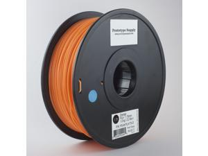 Prototype Supply PLA 3D Printing Filament 3mm Orange 1kg/roll (2.2 pounds)
