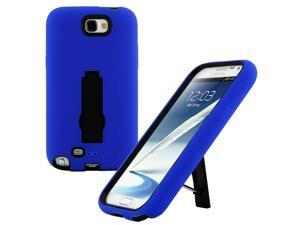 Blue Rugged Dual Layer Impact-Absorbing Case With Built-In Kickstand for Verizon , Sprint , AT&T , T-Mobile , U.S. Cellular , For ...