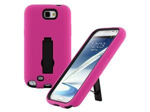 Pink Rugged Dual Layer Impact-Absorbing Case With Built-In Kickstand for Verizon , Sprint , AT&T , T-Mobile , U.S. Cellular , For ...