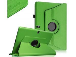 Samsung Galaxy Tab Pro 10.1 Rotating Case Cover - Leather 360 Degree Swivel Stand for TabPro 10.1-inch Tablet SM-T520/T525 (Green)