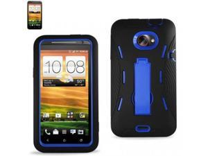 Rugged Dual Layer Impact-Absorbing Case With Built-In Kickstand Compatible with HTC Evo 4G LTE/ One PJ75100 for Sprint