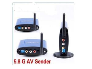 5.8G 200m Wireless Audio Video AV Sender Transmitter Receiver + 2 Receivers w IR