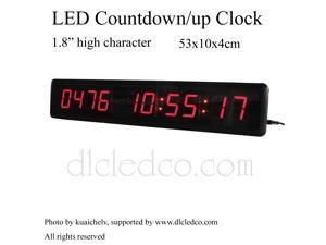 "1.8"" High Character LED Countdown/up Clock Count up to 9999 days with Hours Minutes Seconds IR Remote Control"