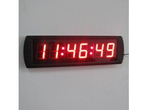 "Indoor 3"" LED Wall Clock LED Digital Clock for Office LED Countdown/up Timer"