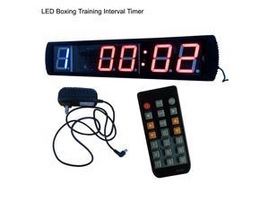 "4"" Giant Large LED Training Timer Boxing Training Countdown Clock Support 9 Rounds and Rest Time & Training Time IR remote Control"