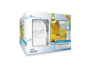 Ball Mason Jar Wide Mouth Drinking Mug 24oz, 8pk