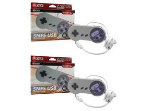2x SNES USB Retro Super Nintendo Controller 9FT CORD FOR PC/MAC