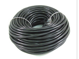 50FT 50 FT RJ45 CAT5 CAT5E Ethernet LAN Network Cable Black Brand New 15M