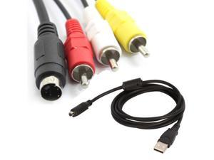 AV A/V TV + USB Cable/Cord For SONY Handycam DCR-SX44/E