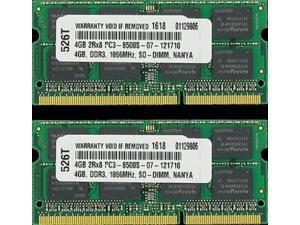 8GB (2X4GB) MEMORY ACER ASPIRE 7741 333G25BN 333G25MN