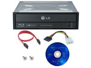 LG 12X SATA Internal Bluray Combo Drive MDISC DVD CD Burner 3D Playback+Software