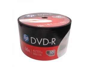 100-Pack HP 16X Logo DVD-R DVDR Blank Disc Media 4.7GB Bulk Pack